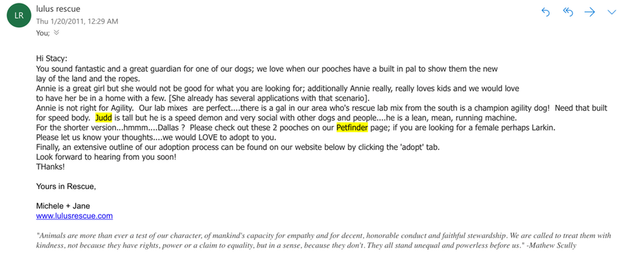 Email Screen Shot
