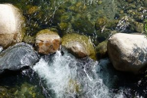 Rocks in Turbulent Water